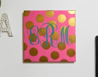 Polka Dotted Monogram Canvas