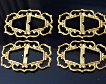 Vintage 8 pcs , 1980s  Brass Stampings, filigree Jewelry Findings. /zg