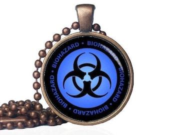 Biohazard Pendant - Bio-Hazard Necklace - Hazard Jewelry - Nuclear Waste - Nuclear Pendant - Nuclear Necklace