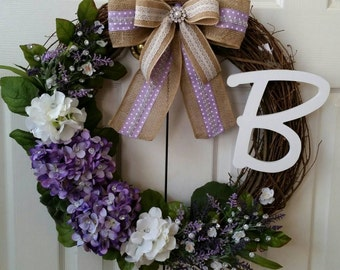 Wedding Wreath Bridal Shower Wreath Door Wreath