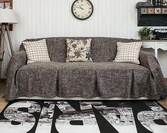 KARUILU home One Piece Heavy Fabric Sofa Furniture Cover Throw