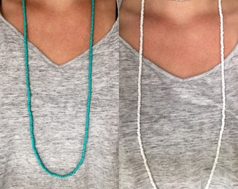 Long Lightweight Double Wrap Necklaces