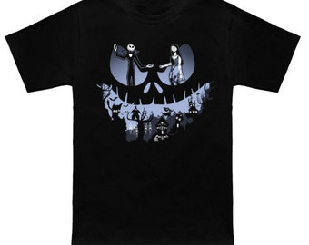 LOVELY NIGHTMARE Disney Cartoon Geek T-Shirt Anime Nerd NBX Nightmare Before Christmas Shirt Jack Skellington Sally Oogie Boogie Zero