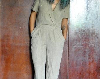 Vintage Soft Tan Jumpsuit