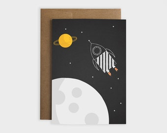 "Greeting card ""Space rocket"""
