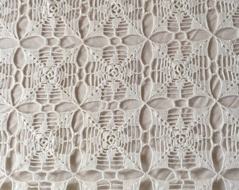 Beautifully crocheted bedspread