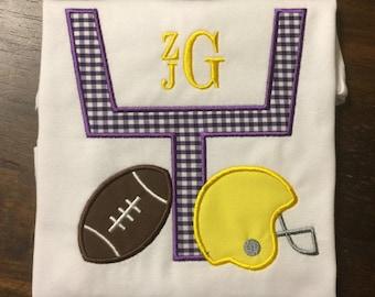 LSU Football Shirt // Louisiana State University Shirt // Boy's Football Shirt // Monogrammed Sports Shirt // Football Shirt for Boys