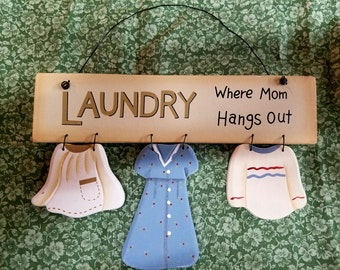 Laundry Where Mom Hangs Out