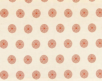 Chakra Indian Rust Cotton Flax Fabric Sample