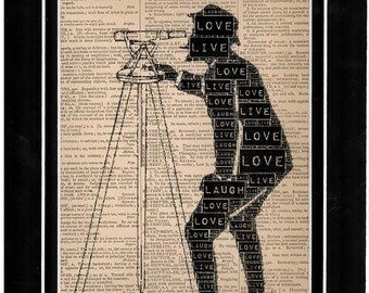 Typography dictionary art/art print
