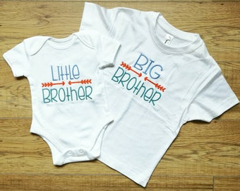Big Brother top, Little Brother top, Sibling tops, Brother gift, new Brother gift, brother onsie new baby gift, clothing sets, boys clothing