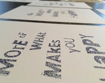 Do More Of What Makes You Happy Lino Print