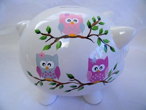 Items similar to piggy bank personalized piggy bank Large piggy banks for adults