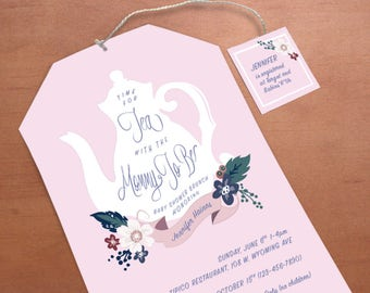 Printable Tea Party Baby Shower Invitation