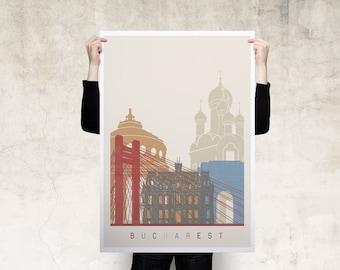 Bucharest Travel Poster