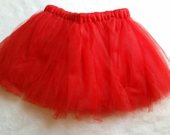 Red Tulle Newborn Skirt , Red Reborn Skirt, Baby Skirt, Reborn Skirt, Baby Gift, Baby Photo Prop, Baby Shower Gift.