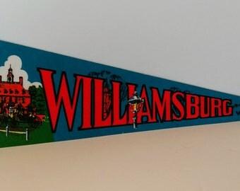 Williamsburg, Virginia - Vintage Pennant