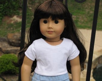 """18"""" doll classic white top"""