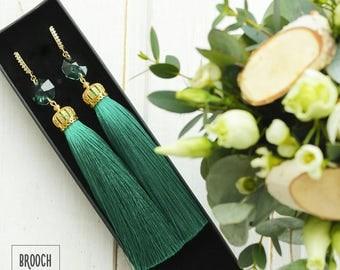 Emerald in gold