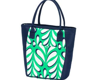 Palm collection cooler tote