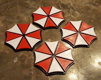 Umbrella Inspired Coaster Set - 4 total