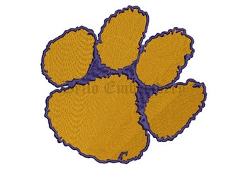 SALE**Clemson Tigers 5 Size Embroidery Designs College Football Logos Machine Embroidery Pattern