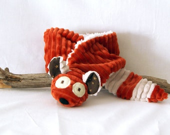 Red panda scarf for children or baby - Animal scarf - Christmas gift