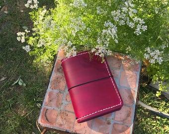 Field Note with Pockets, Tahitian Moon, Fauxdori, Travelers Notebook, Leather Travelers Notebook, Crisdori Pocket, Standard, Passport, A6