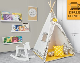 Tipi Set - Kids Play Tent Teepee - Hanabu