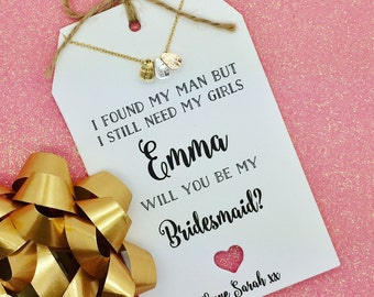 Ask Bridesmaid, Necklace With Personalised Card, Maid of Honour Card, Bridesmaid Gift, Bridal Party Gift, Best Friend