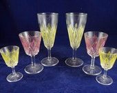 Vintage Glass Set, French...