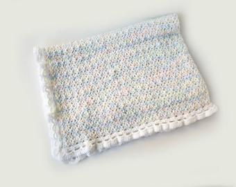 Hand crocheted baby blanket afghan