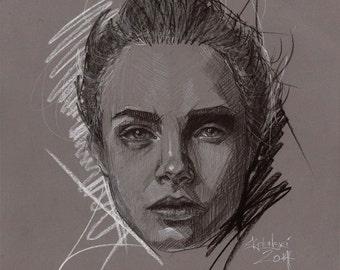 Cara - Original Drawing