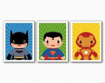 Superhero Set 3 Prints - Mix and Match