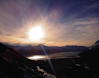 Girdwood Alaska Sunset - Fine Art Travel Photography Prints - Matted