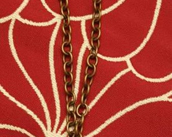 Brass antique key Y necklace