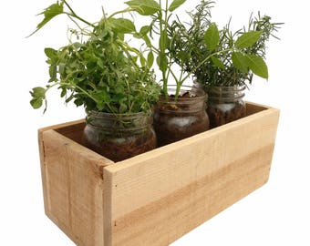 Indoor Herb Planter Interesting Herb Planter  Etsy Decorating Inspiration