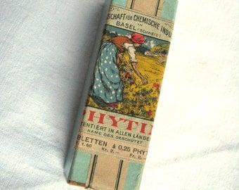 Cardboard BOX antique German box tablets Phytin  Tabletten  1930s