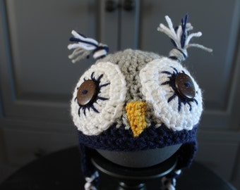 Harry Potter inspired Ravenclaw Baby Owl Hat