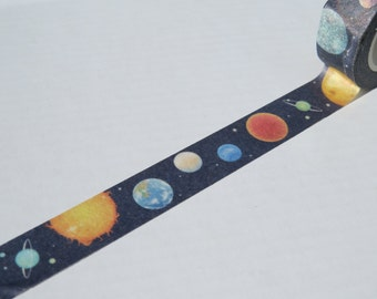 Space and Planets Washi Tape 15mm X 10 metres