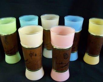 1960's Siesta Ware Tumblers - Set of 7
