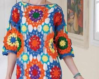 Crochet Boho dress Crochet Hippie Dress Summer Bohemian Clothing for women Cotton  Sun Beach Party Dress