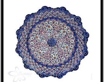Persian Decorative Enameled Copper plate - Wall decorative plates