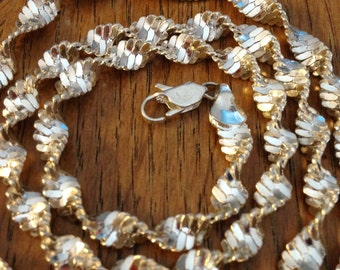 Sterling Silver Twisted 22 inch Necklace