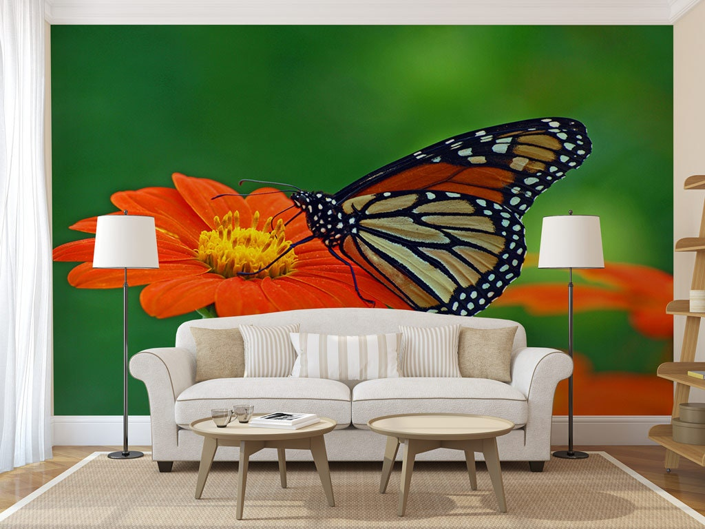 Butterfly Wall Mural, Self Adhesive Photo Mural, Peel U0026 Stick Wall Decor,  Wallpaper Part 85