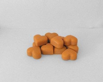 Orange Heart Melts