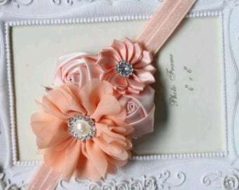 Satin Rosette Flower Baby Headband