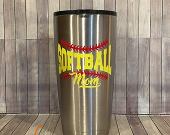 Softball Mom 20oz Stainless Steel Insulated Tumbler