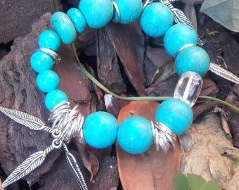 Wrist ball turquoise joy birthday daughter peace hanging feathers Platedas beautiful... It s