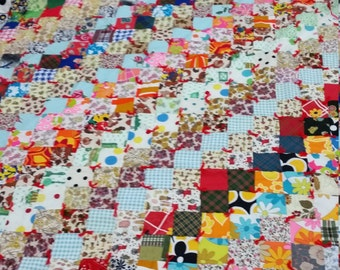 Vintage Material Quilt